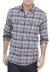 Lightweight Stretch Twill Button Down Shirt
