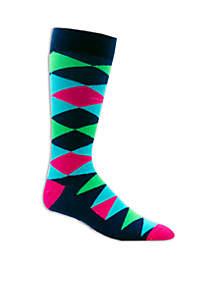 Big & Tall Diamond Print Socks
