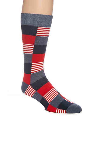 Crown & Ivy™ Americana Big Check Sock