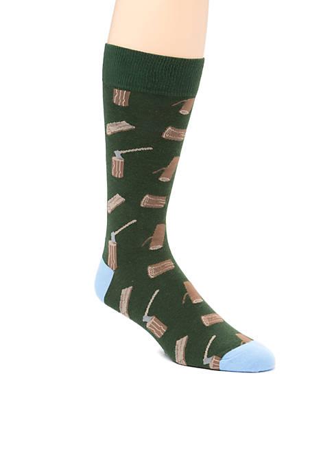 Ax And Log Print Socks