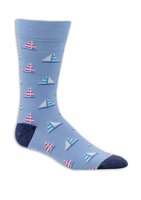 Christmas Sailboat Socks