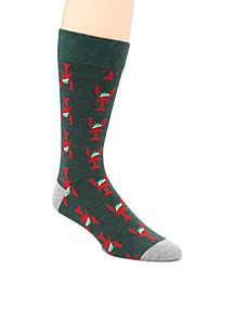 Christmas Lobster Print Socks
