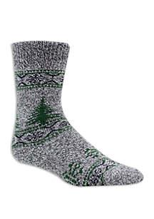 Tree Print Cabin Socks