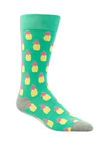 Crown & Ivy™ Pineapple Crew Socks