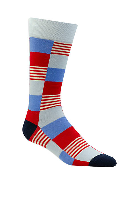 Americana Big Check Socks