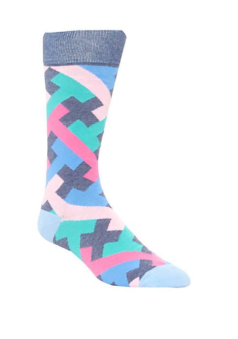 Mens Maze Crew Socks