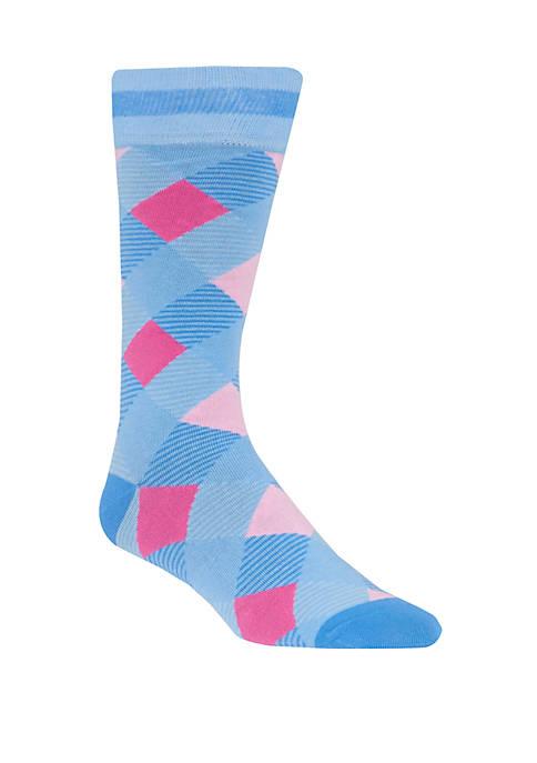 Mens Argyle Crew Socks