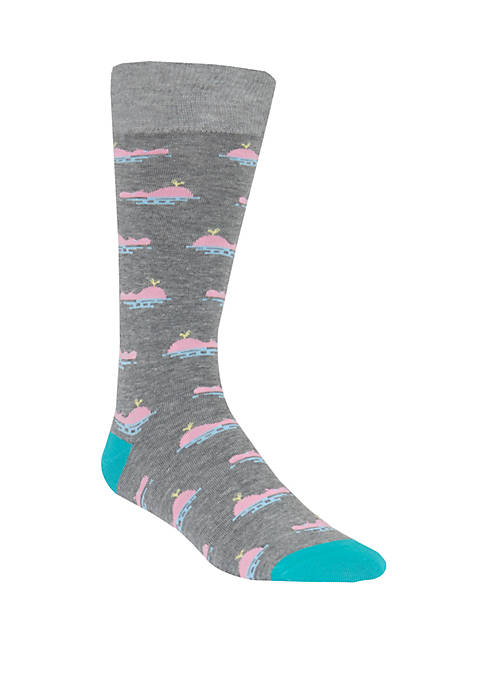 Mens Whale Crew Socks