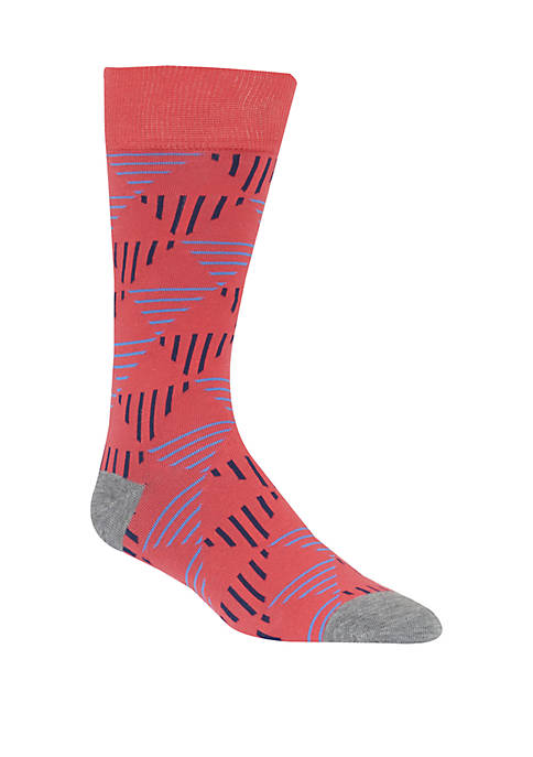 Mens Geometric Triangle Crew Socks