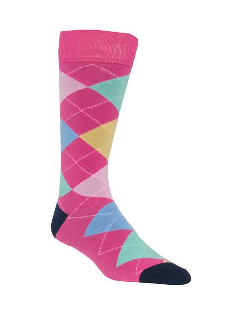 Argyle Crew Socks
