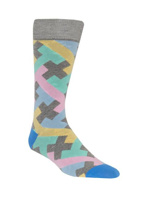 Geometric Crew Socks