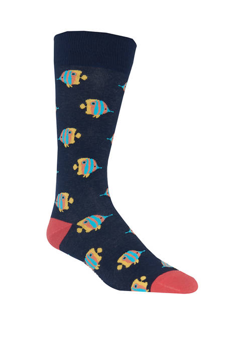 Crown & Ivy™ Fish Crew Socks