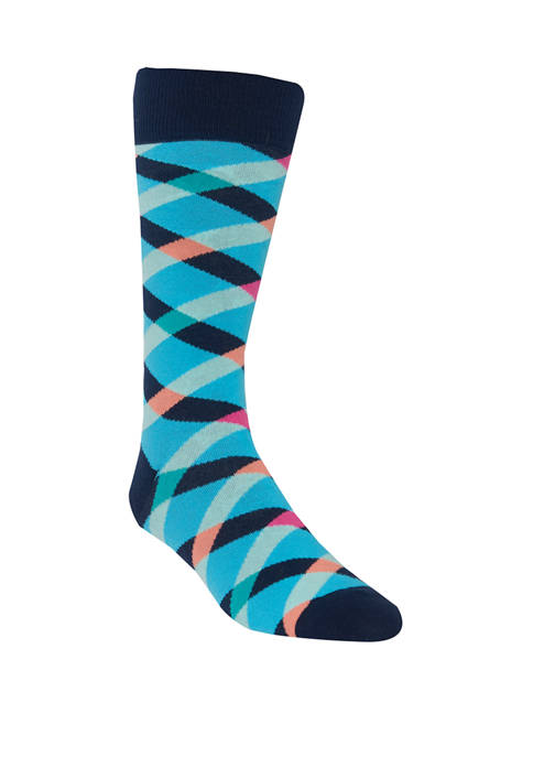 Crown & Ivy™ Mens Crisscross Crew Socks