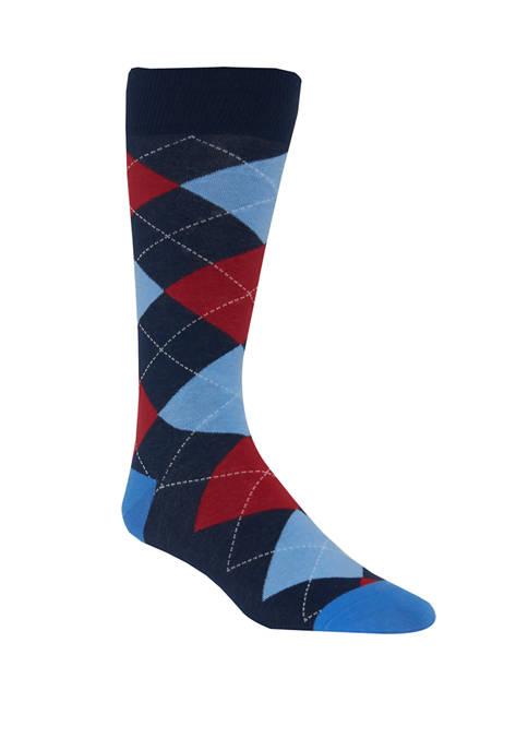 Crown & Ivy™ Argyle Crew Socks
