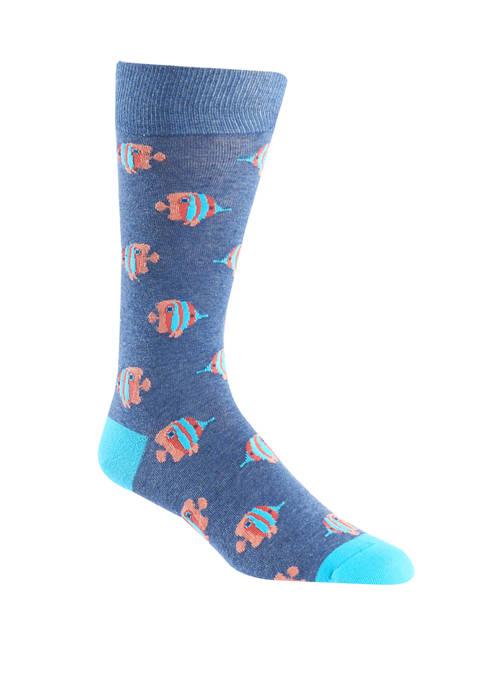 Tropical Fish Crew Socks