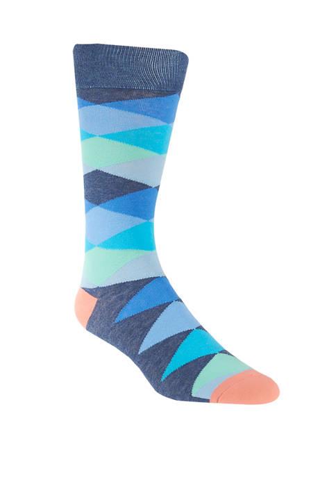 Crown & Ivy™ Geometric Diamond Crew Socks