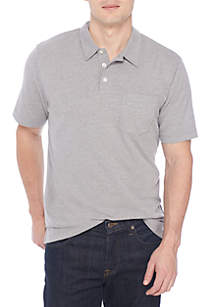 Short Sleeve Solid Knit Polo Shirt