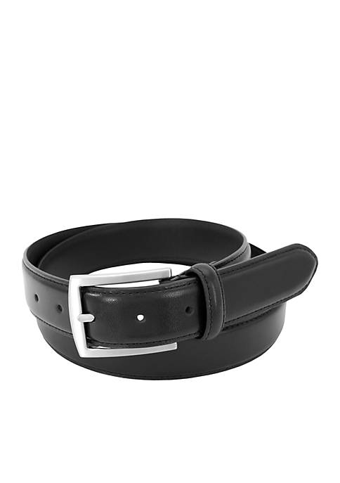 Full Grain Belt With Brushed Nickel Buckle