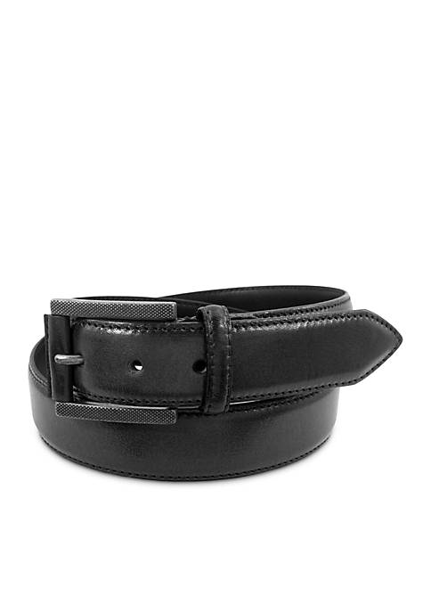 Stacy Adams High Polished Double Keeper Perforated Belt