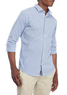 Motion Stretch Printed Poplin Woven Shirt