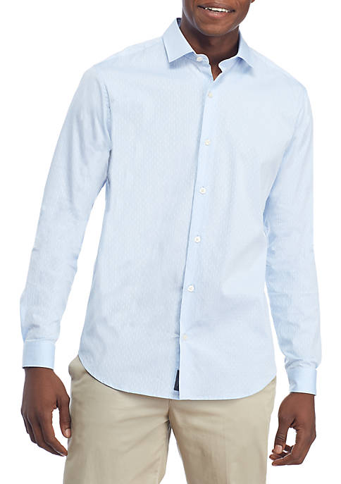 Madison Motion Stretch Solid Dobby Woven Shirt