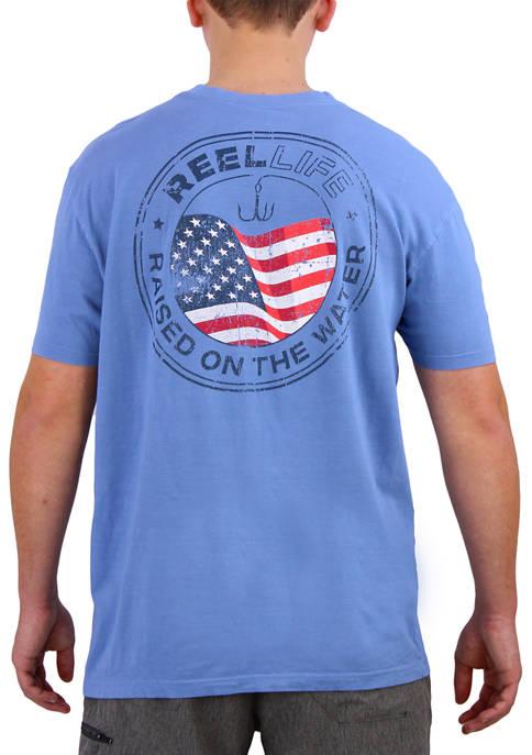 Reel Life Short Sleeve Americana Emblem T-Shirt