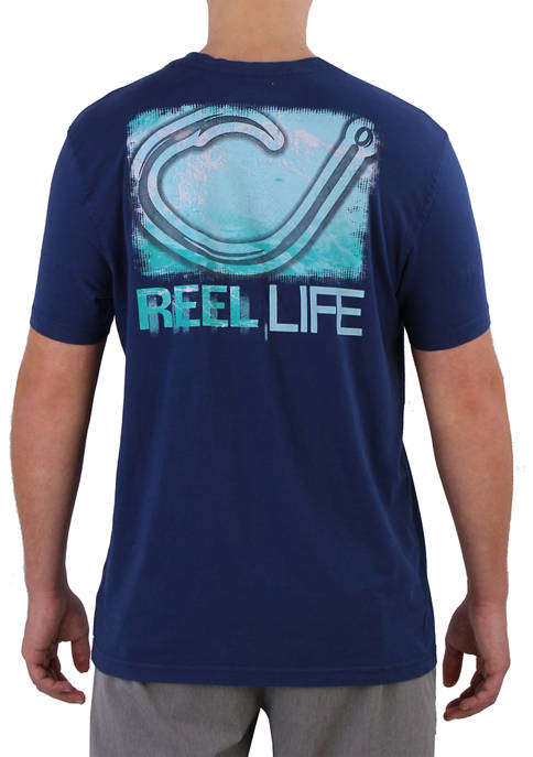 Reel Life Mens Short Sleeve Barrel Circle Hook