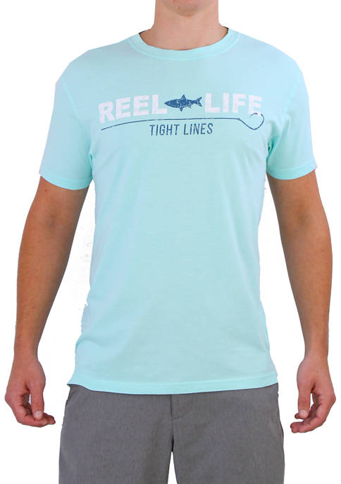 Short Sleeve Reel Life Tight Lines T-Shirt
