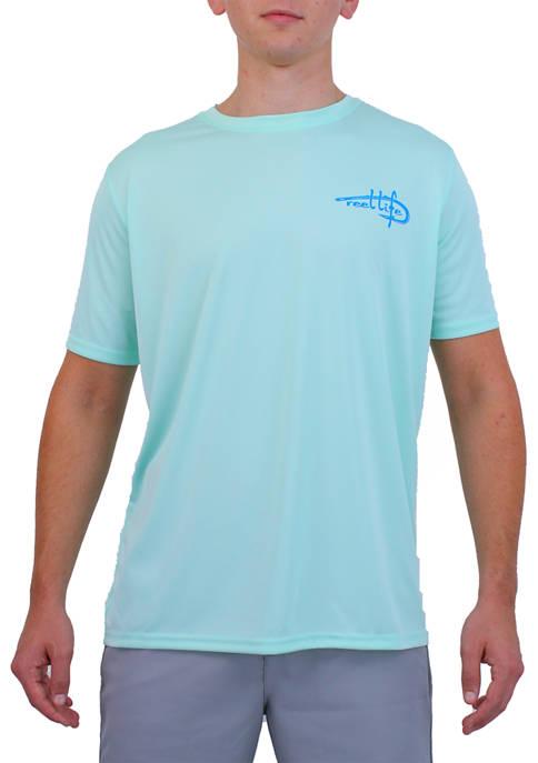 Mens Reel Life Ocean Washed T-Shirt