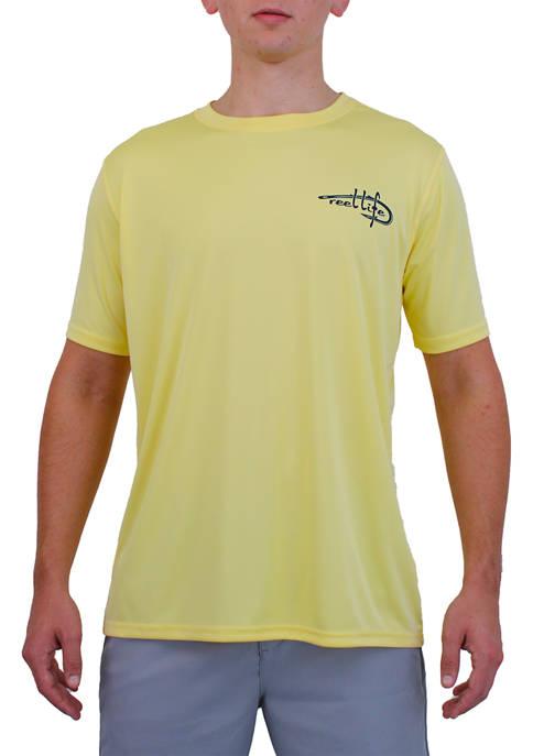 Mens Reel Life Sun Defender American Graphic T-Shirt