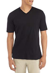Short Sleeve Solid V-neck Tee