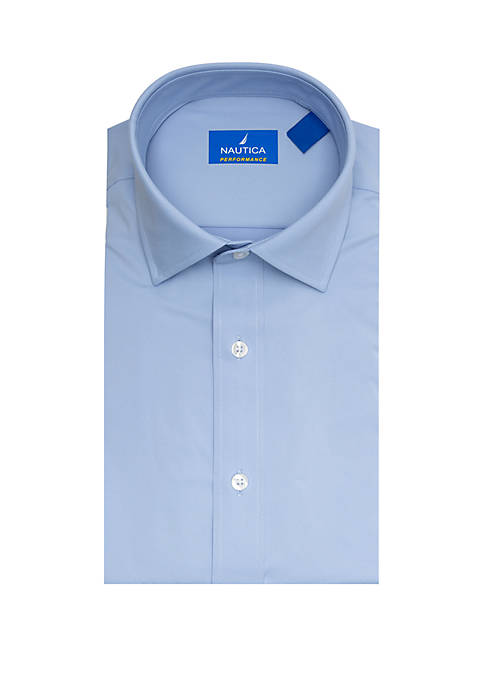Nautica Performance Classic Fit Solid Dress Shirt