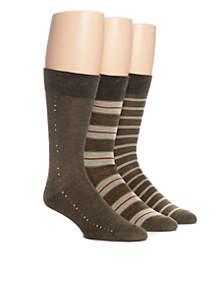 Set of 3 Stripe Crew Socks