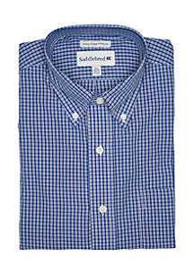 Blue King Collar Dress Shirt