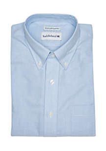 Solid Oxford Button-Down Dress Shirt