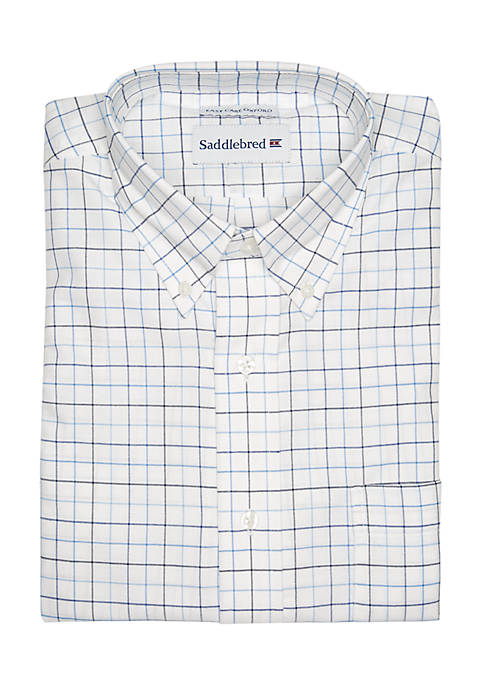 Tattersall Oxford Button-Down Shirt