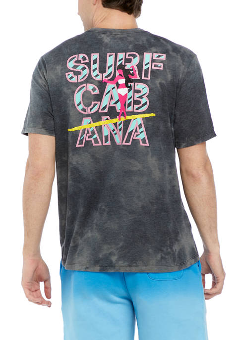Short Sleeve Space Dye Graphic T-Shirt