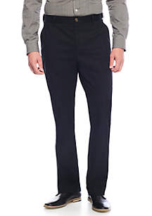 Casual Flat Front Pants