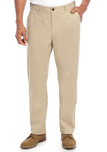 Saddlebred® Casual Flat Front Pants