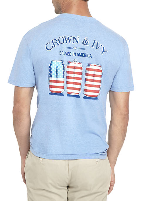 Crown & Ivy™ Red White And Brew Tee
