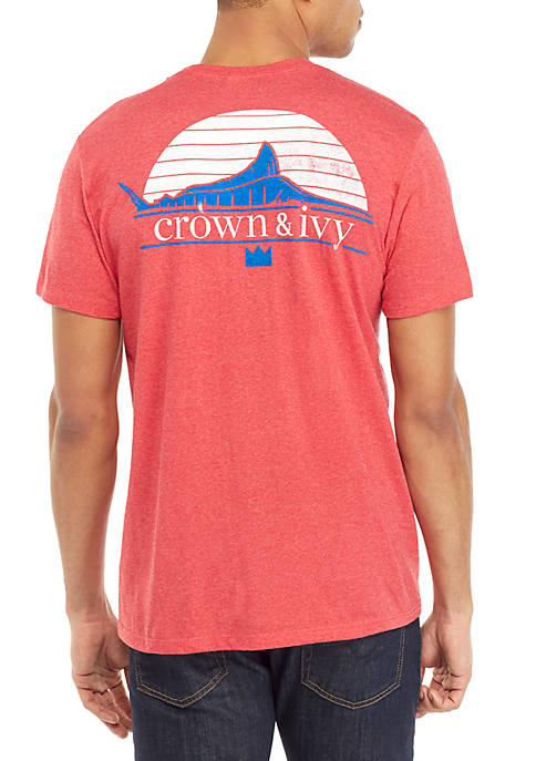 Crown & Ivy™ Marlin Classic Graphic T Shirt
