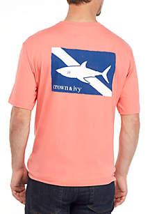 Crown & Ivy™ Shark Flag Graphic T Shirt