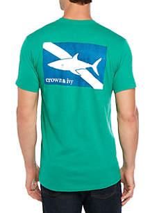 Crown & Ivy™ Shark Flag T Shirt