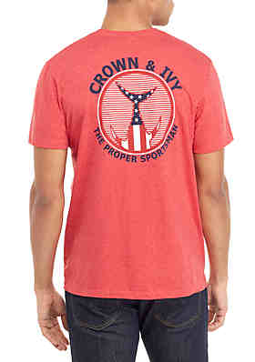 new styles fcea1 10c3a Crown   Ivy™ Red Tails Up Americana T Shirt ...