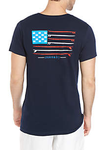 Crown & Ivy™ Surfboard Flag Graphic T Shirt
