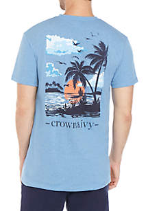 Crown & Ivy™ Palm Sunset Graphic T Shirt