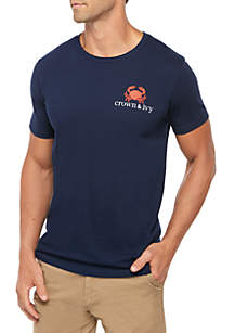 Crown & Ivy™ Crab Tie Graphic T Shirt