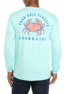 Crown & Ivy™ Long Sleeve Crab Classic T-Shirt