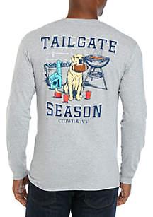 Crown & Ivy™ Long Sleeve Tailgate Season T-Shirt