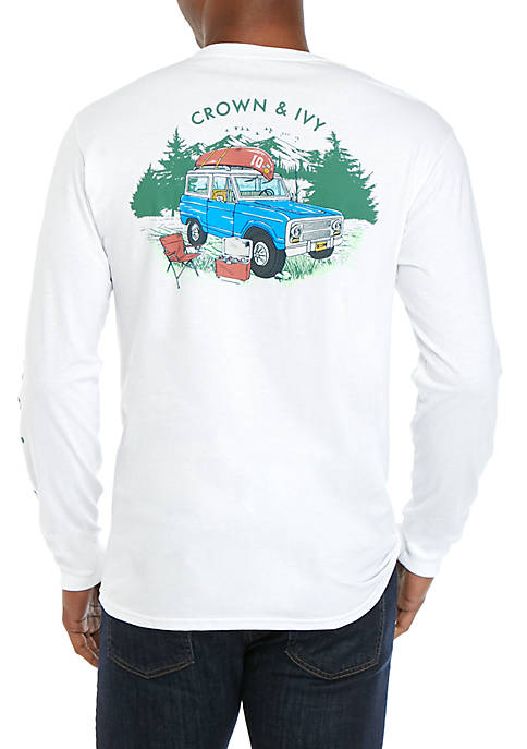 Crown & Ivy™ Long Sleeve Getting Out T-Shirt
